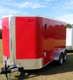 RED TANDEM AXLE ELITE V-NOSE Trailer