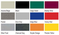 Cargo Trailer Colors Available